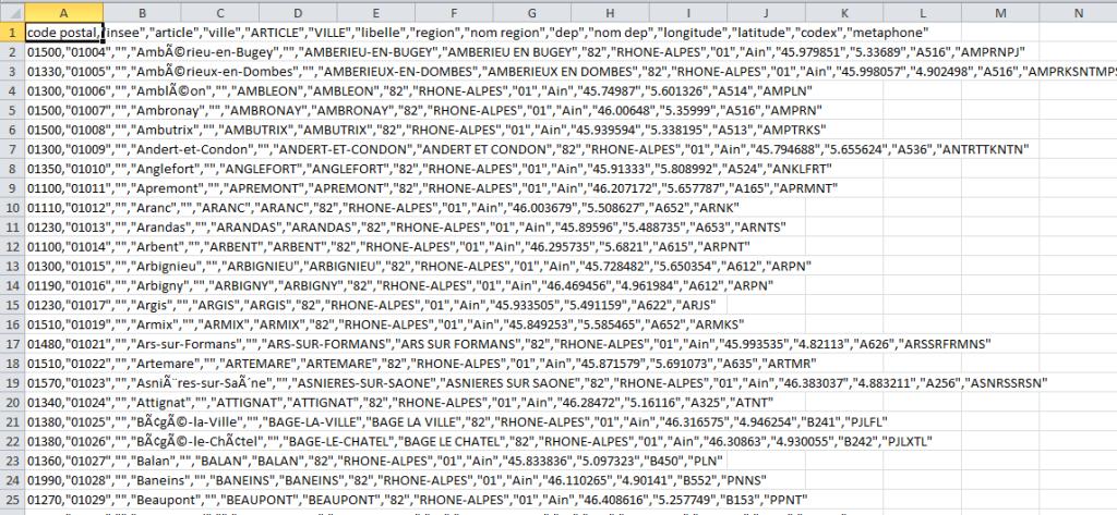 un exemple fichier .csv