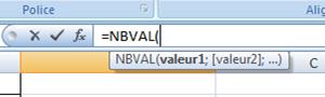 detail formule nbval