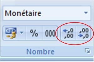 Ajouter ou supprimer des décimales